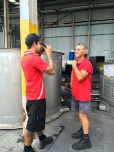 Jamie & Brad Chatting